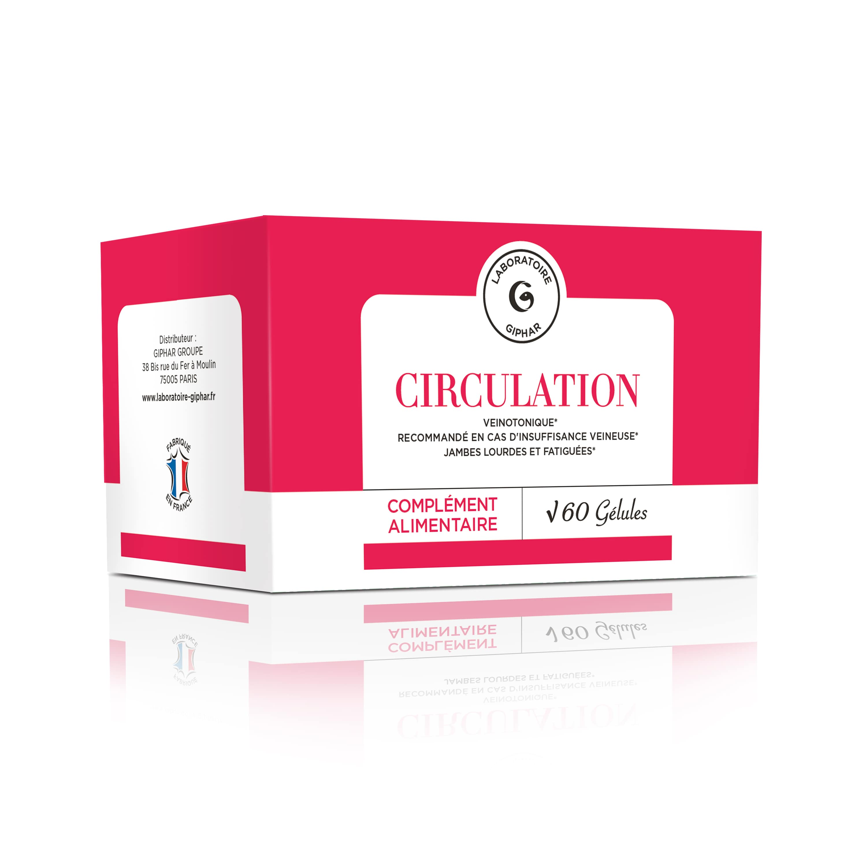 complement alimentaire circulation packaging
